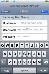 set up email on iphone